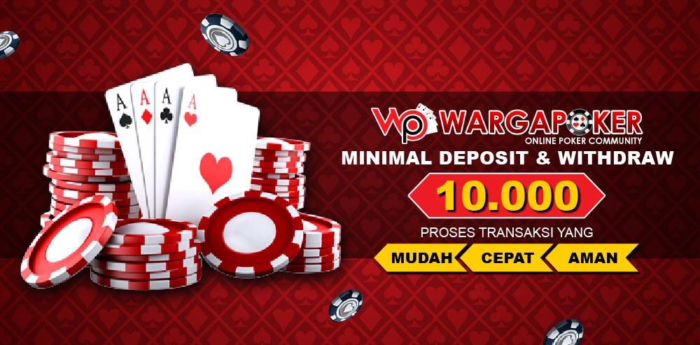 Wargapoker Situs Judi Poker Online Dengan Deposit Terkecil